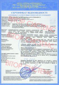 Сертификат соответствия Nenutec на электроприводы